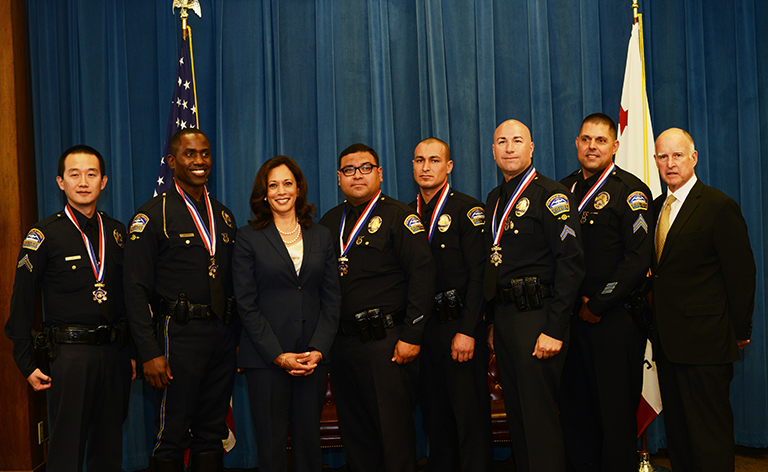 Governor Brown and Attorney General Harris Honor 14 with