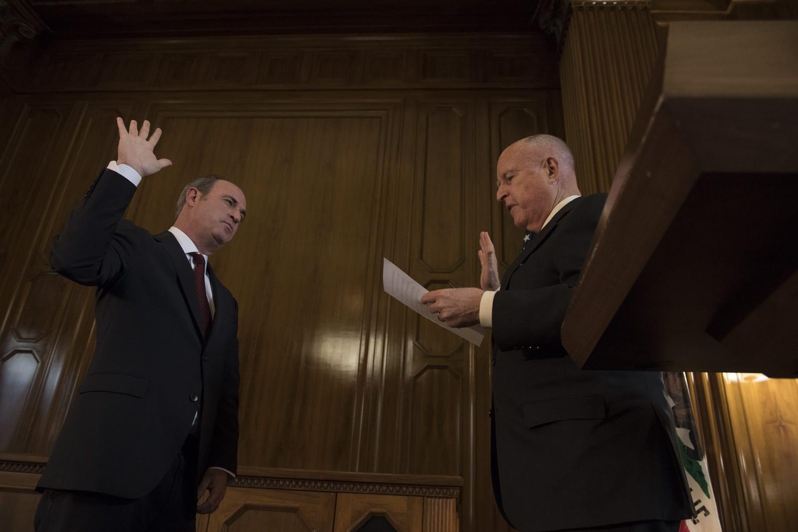4aec9e0b900 Governor Brown Swears In Justice Groban to California Supreme Court